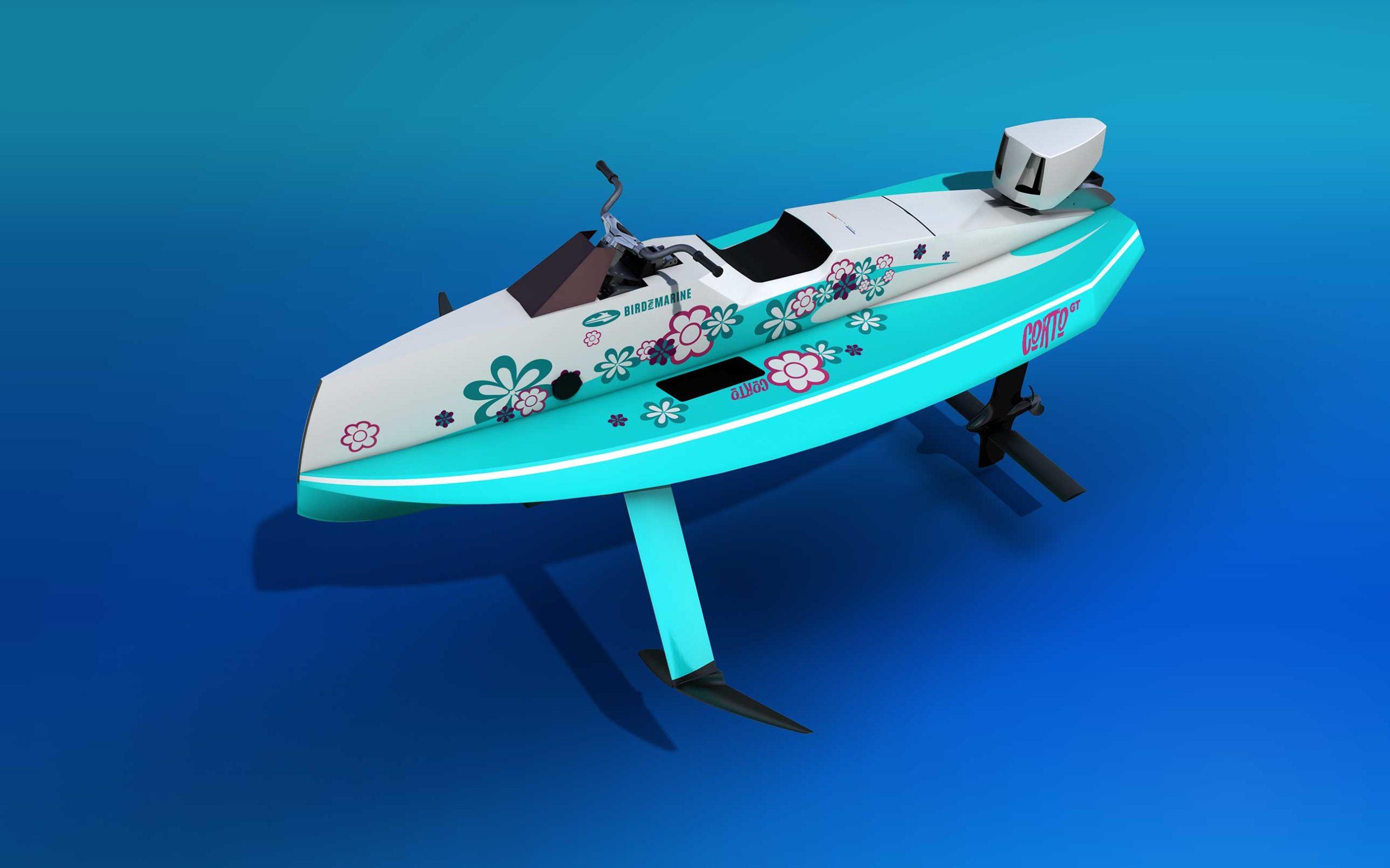 The Corto GT BeachBoy Blue seen from three quarters