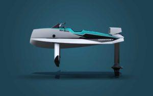 Cyberfoil Corto GT by Bird-e-Marine Celek-Blue profile view