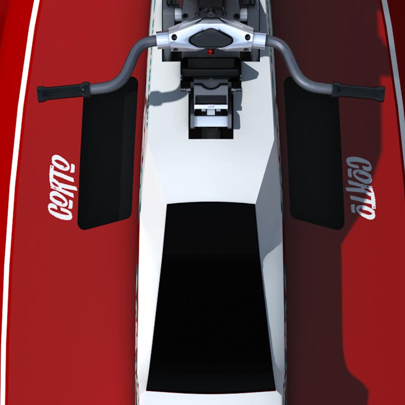 Détail du Cyberfoil Corto GT par Bird-e-Marine en version BeachBoy-Red
