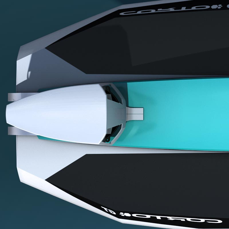 Détail du Cyberfoil Corto GT par Bird-e-Marine en version Celek-Blue